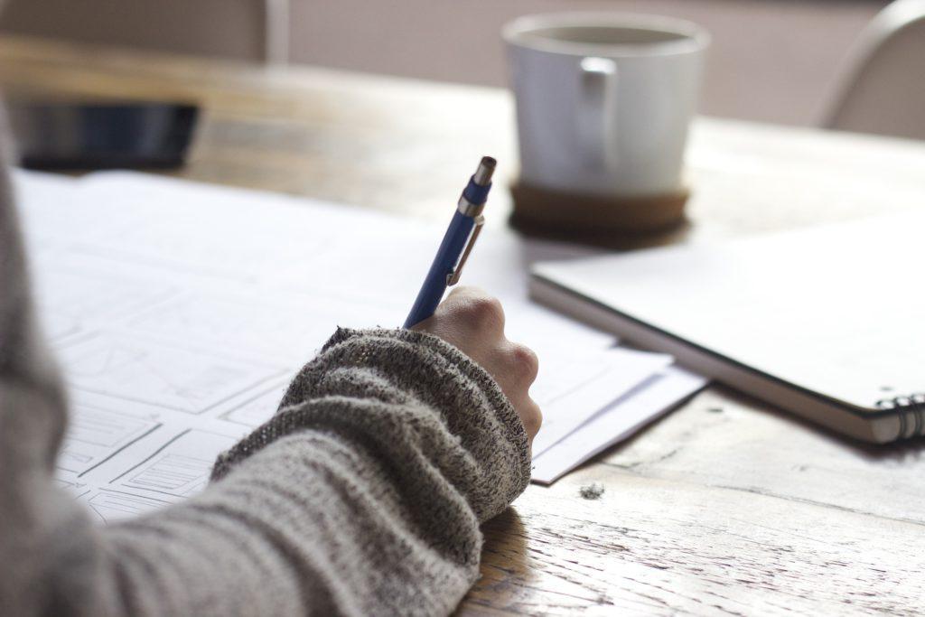 soemone writing