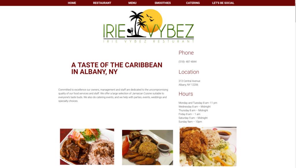 Jamaican restaurant website