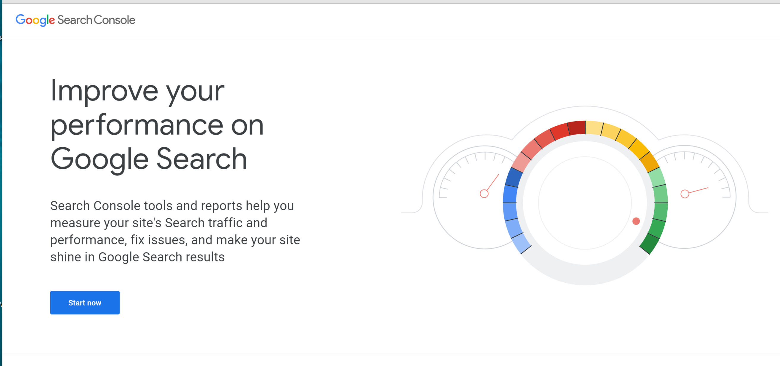 Google Console screen shot