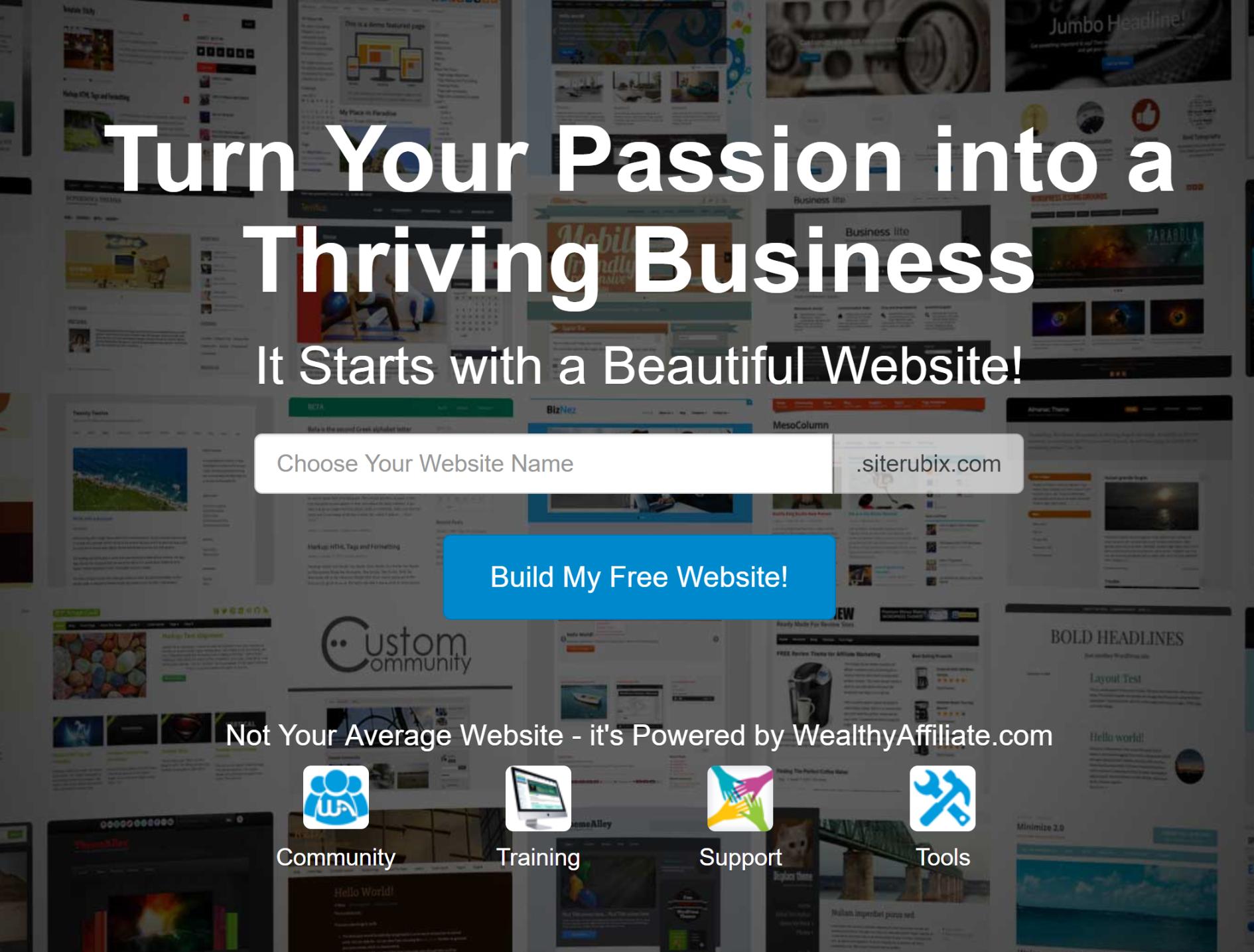 Site rubix screen shot