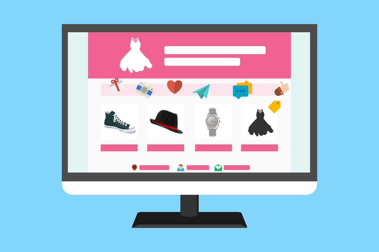 image of a graphic ecommerce website